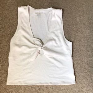 American Eagle white tie top